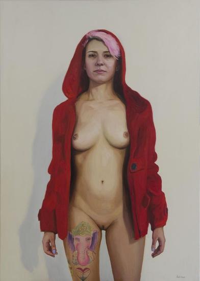 Caperucita roja. Canvas Oil Nude Paintings