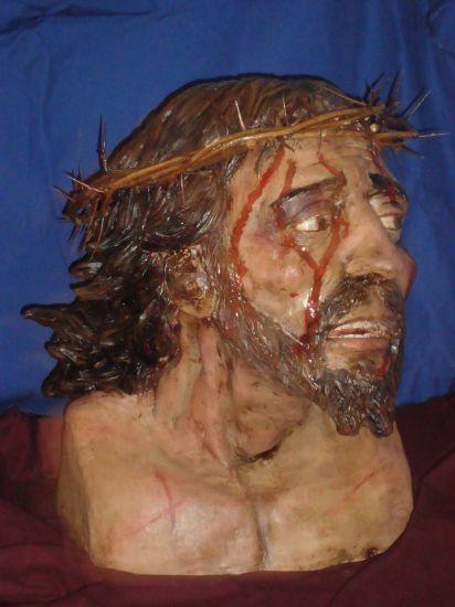Busto Cristo Cerámica Figurativa