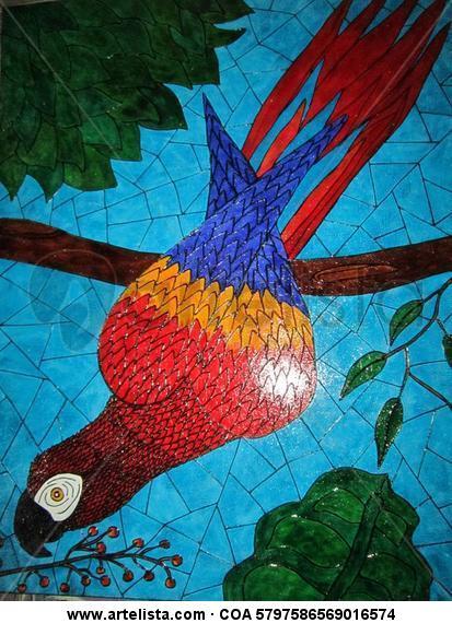 Guacamayo Otros De vidriera Animales