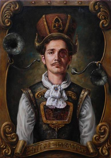 retrato de hombre moderno