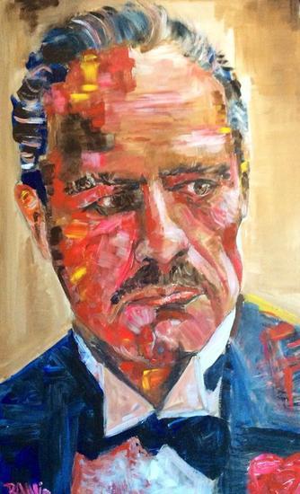 Vito Corleone Retrato Acrílico Tabla