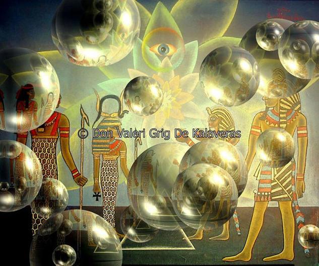 El nacimiento de las pirámides Otros Lienzo Óleo
