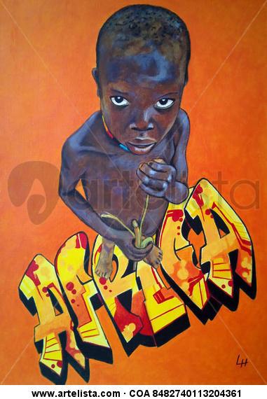 Africa Papel Acrílico Figura