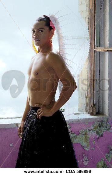 Lukas Avendaño, Muxhe, Muxe performer: Portrait Color (Digital)