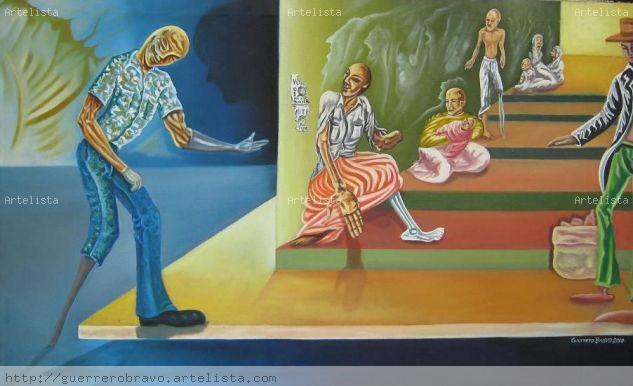 los convidados de piedra Canvas Oil Figure Painting
