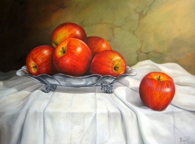 Manzanas rojas Óleo Tela Bodegones