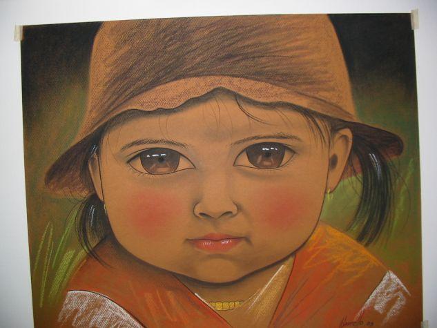 MARIA DE LOS ANDES Pastel Cartulina Retrato