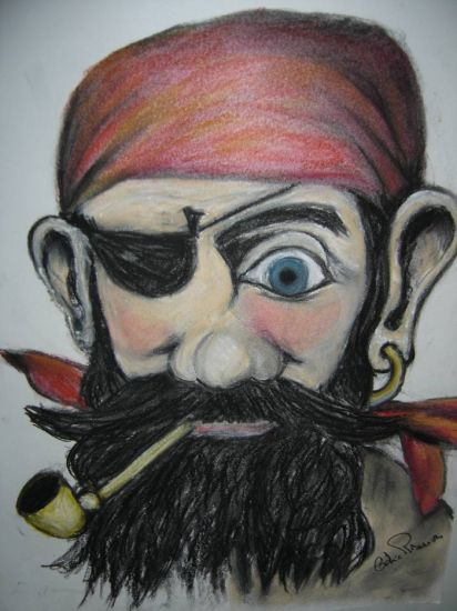 Pirata da Perna de Pau Pastel Cartulina Figura
