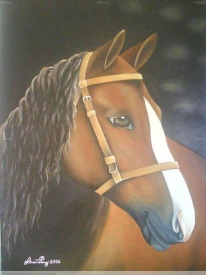 O cavalo Tela Óleo Animales