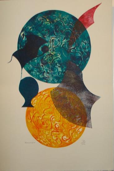 La paloma y su espacio I Aguafuerte