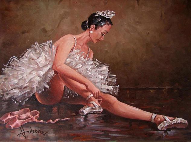 ballerina III - Natasha M. Lienzo Óleo Retrato