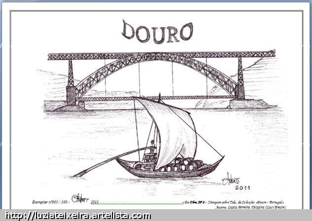 Obra nº3 «DOURO - PORTUGAL» Cartulina Tinta Paisaje