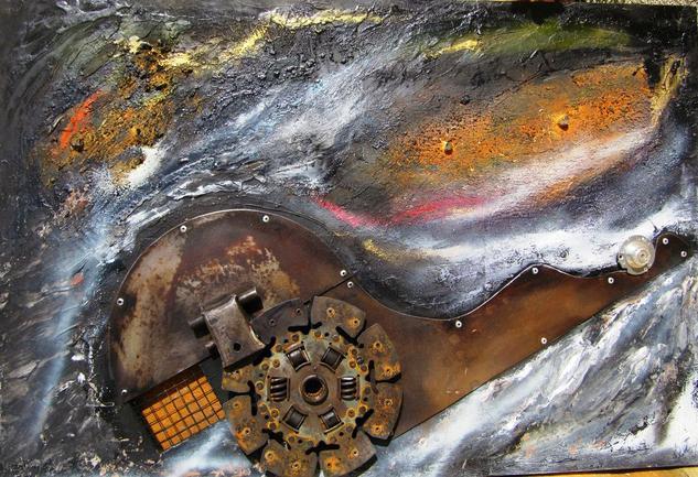 CUANDO VUELVA II Metal Abstracta