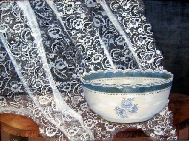 Porcelana inglesa John Bross Óleo Lienzo Bodegones