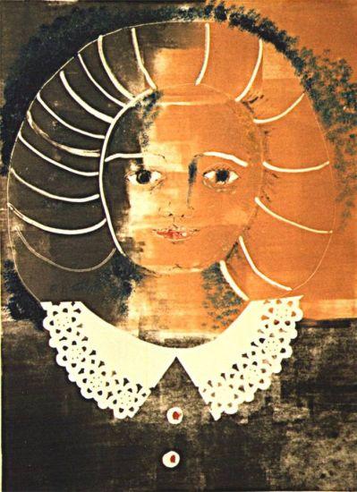Mujer con cuello blanco - Maria Marta GUZZETTI - artelista.com