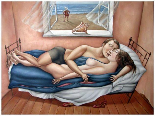 Sueño Óleo Lienzo Desnudos