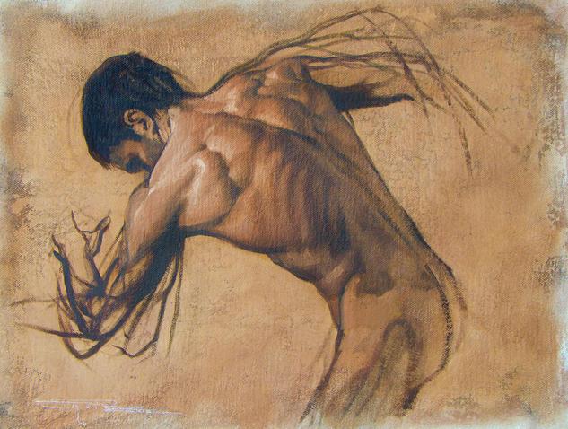 Estudio-movimiento Desnudos Óleo Tela
