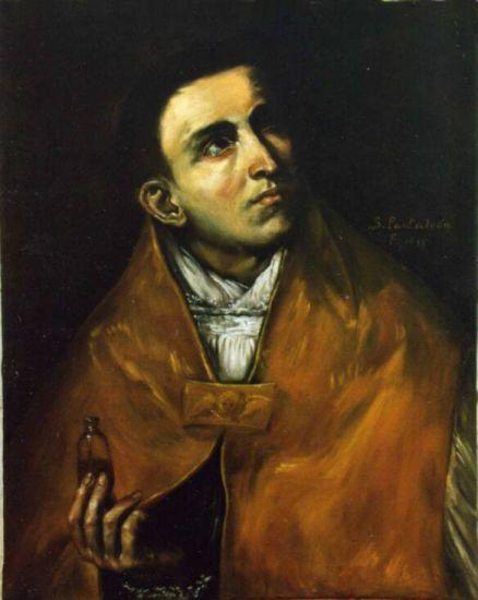 SAN PANTALEON Óleo Lienzo Retrato