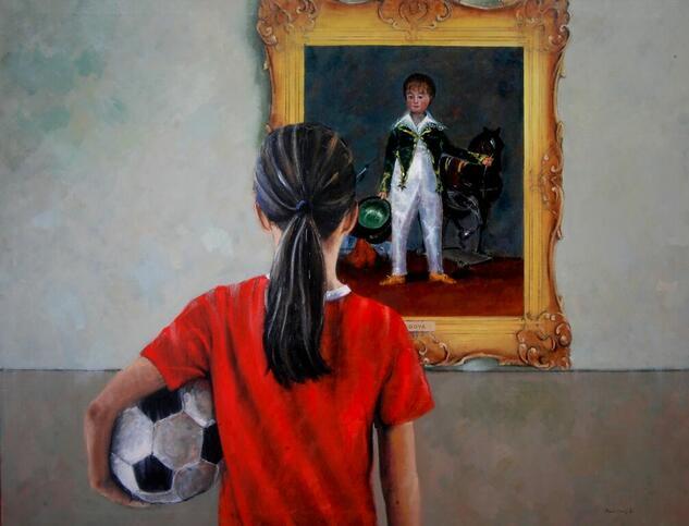 Admirando Goya 2021 Figura Óleo Lienzo