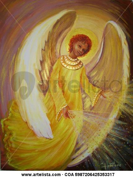 Angel Dorado Canvas Oil Figure Painting
