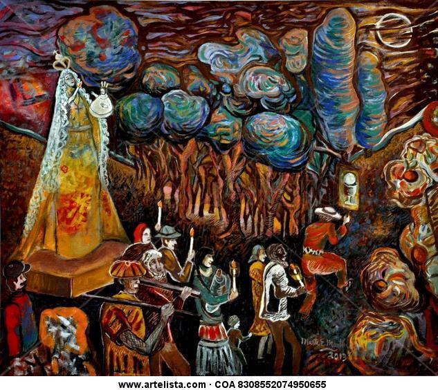 Procesión, Virgen de la Candelaria  LA ESTANCITA-CÓRDOBA -ARGENTINA Lienzo Otros Paisaje