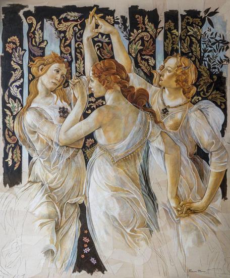 ALEGORIA X Figure Painting Oil Panel