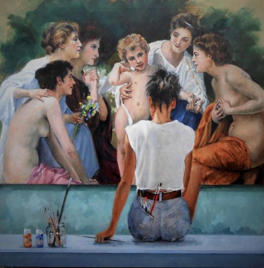 Admiración Bouguereau 2020 Figura Óleo Lienzo