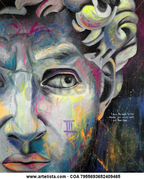 Deivid Canvas Oil Portrait