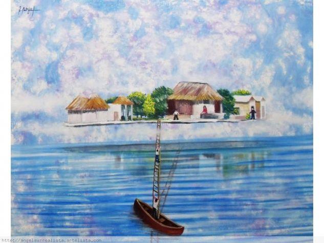 En busqueda de la isla de mis suenos Others Canvas Marine Painting