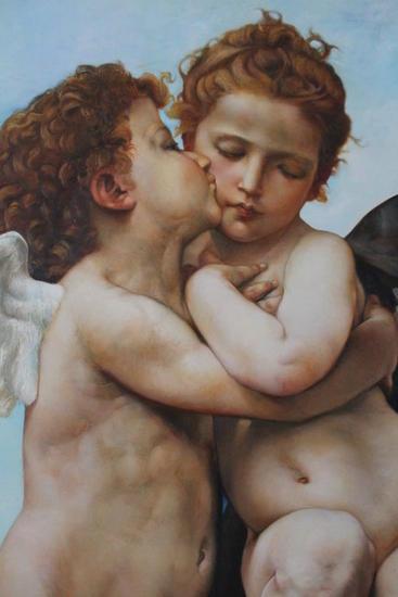 Cupido y Psiquis (Detalle) Lienzo Óleo Figura