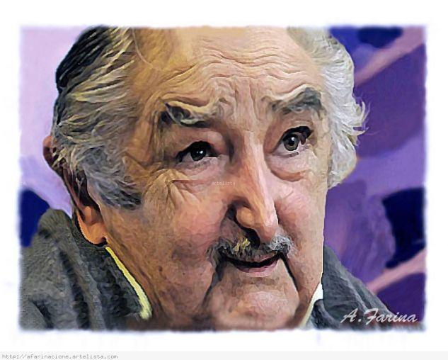 Caricatura de José Pepe Mujica (Actual Presidente de la República Oriental del Uruguay)