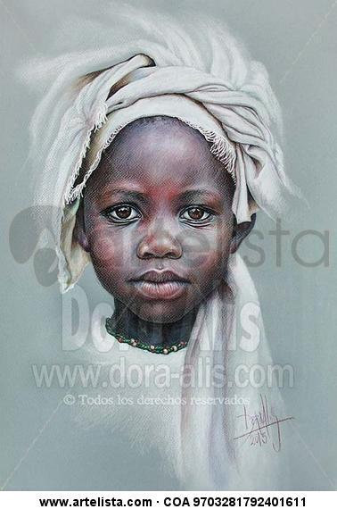 Niña de África 89 Lápiz