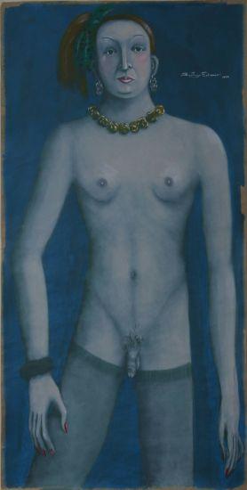 TRAVESTI Gouache Paper Nude Paintings