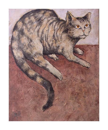 Gato 3 Animales Acrílico Lienzo