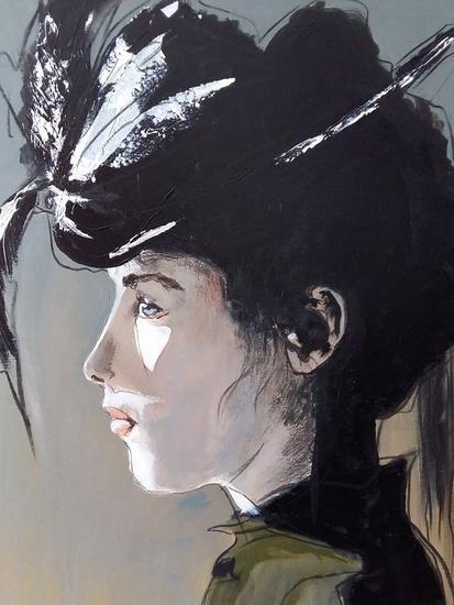 Victoria Lienzo Acrílico Retrato