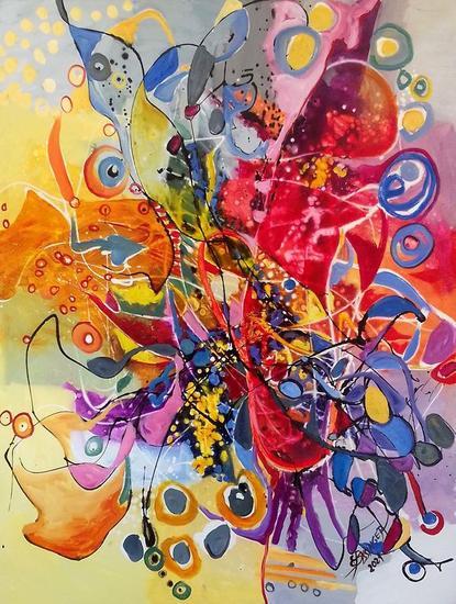 Pitule,abstract Bissinger Otros Óleo Lienzo