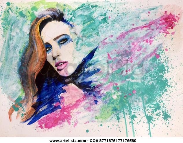 """""""Colour me"""" Papel Acrílico Retrato"""