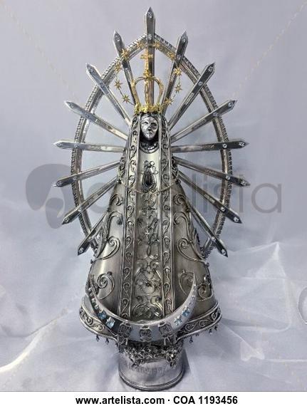 Virgen de Lujan Mixta Metal
