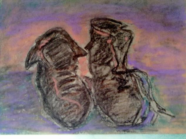 las botas Cartulina Lápiz (Negro) Bodegones