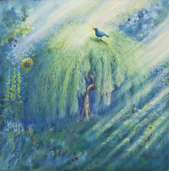 Bluebird Lienzo Acrílico Paisaje
