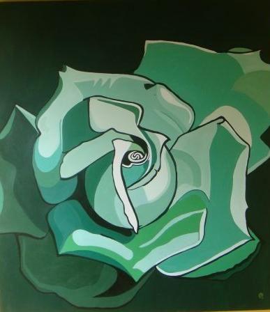la rosa más grande Acrílico Lienzo Floral