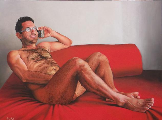 Conversa eròtica Tela Óleo Desnudos