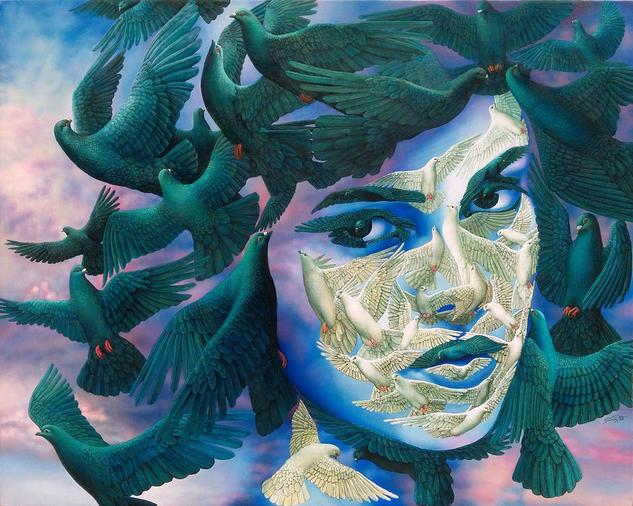 La Sublime Consecuencia  Portrait Oil Canvas