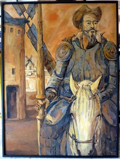 De retorno Don Quijote Lienzo Óleo Figura