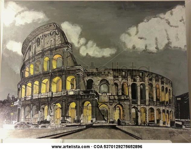 Coliseo Romano Lienzo Acrílico Paisaje