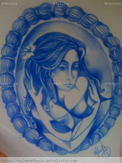 Azul ante un espejo