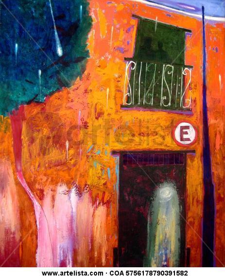 Lo que queda   1.20 x 1.00 cm.  óleo/tela Lienzo Óleo Paisaje