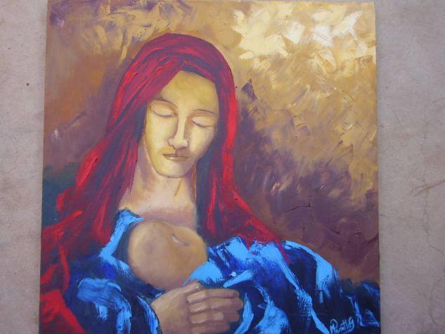 Madre Retrato Óleo Lienzo