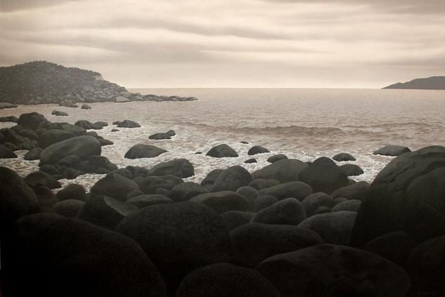 Donde rompen las olas Lienzo Óleo Paisaje