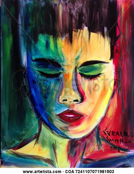 Colorful Dreams Tabla Acrílico Retrato